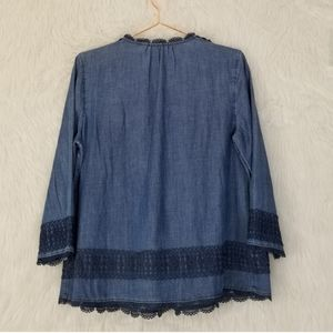 Anthropologie Tops - Holding Horses (Anthropologie) Chambray Blouse